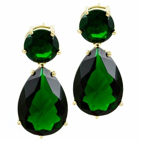 Emerald earrings costume jewelry 303
