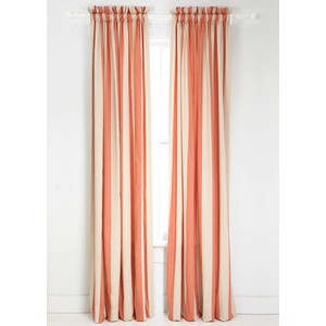 Coral And Navy Curtains Orange and White Kitchen