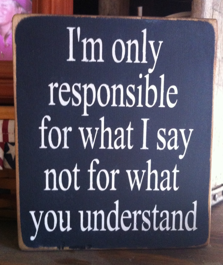I'm only responsible~~