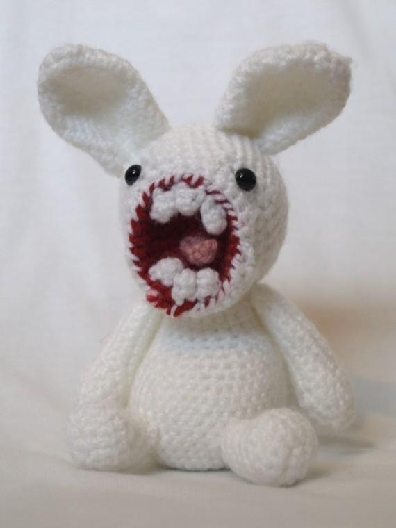 Creepy knitted bunny Crochet Pinterest