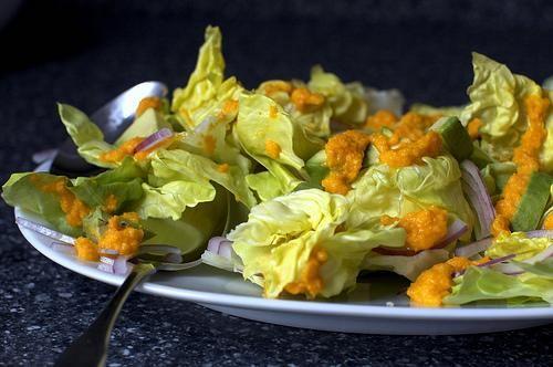 avocado salad with carrot-ginger dressing Salad Recipe