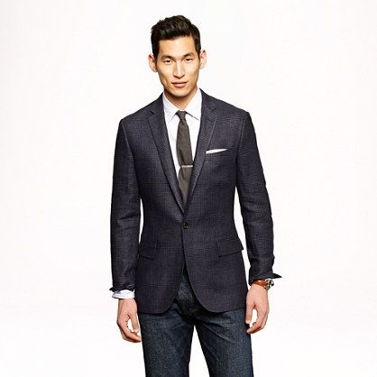 J B Ludlow Crew: Unconstructed Ludlow single-button sportcoat with double vent ...
