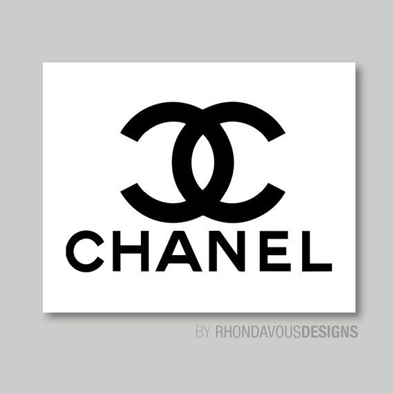 Coco Chanel Logo Parfume Perfume Single Print - Home. Decor. Nursery ...: pinterest.com/pin/318137161149751832