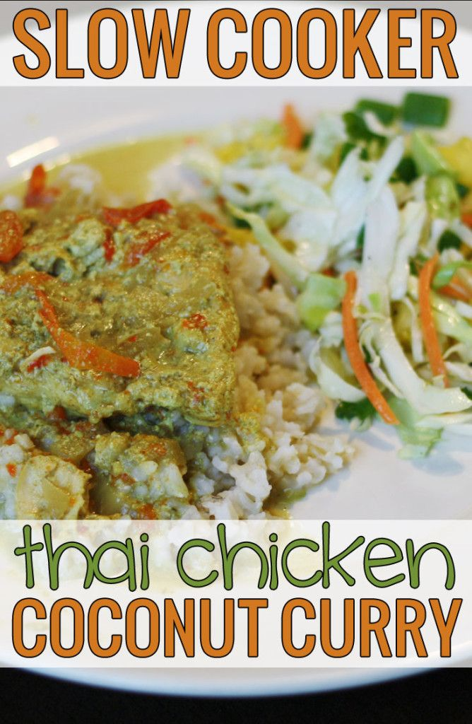 Slow Cooker Thai Chicken Coconut Curry   Recipes   Pinterest