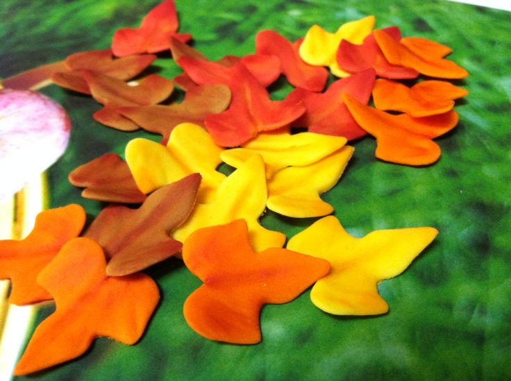 fondant fall leaves