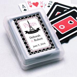 las vegas playing cards wedding favors