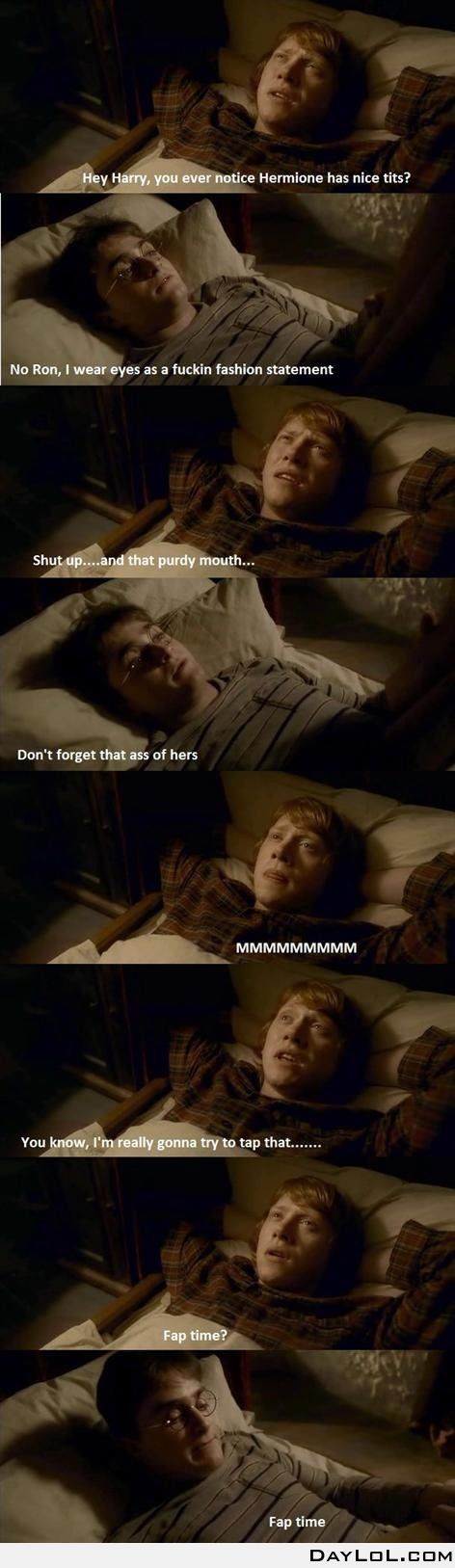 Fap time with Ron and Harry
