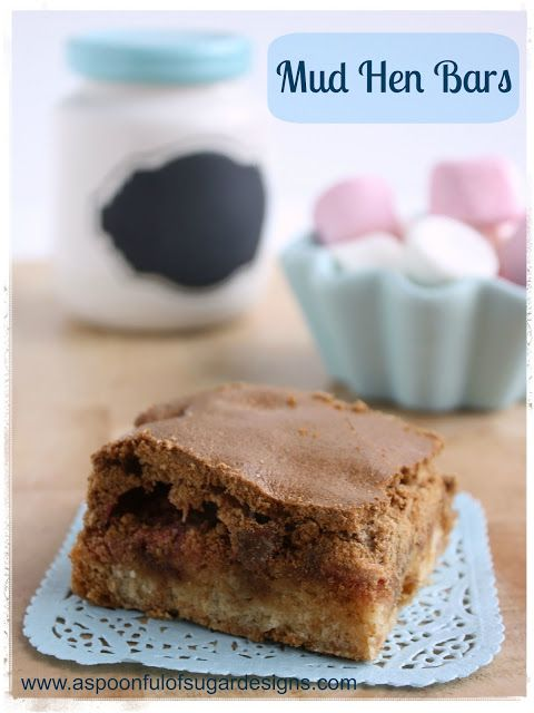 ... chip & marshmallow center + brown sugar meringue :: mud hen bars