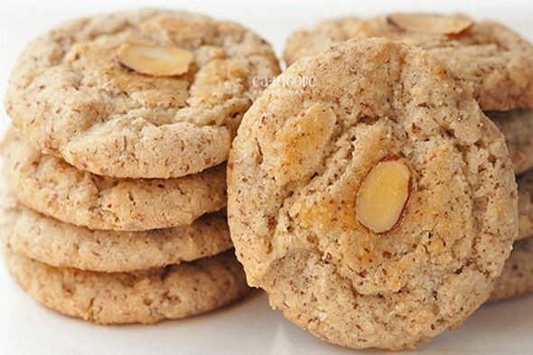 Chinese Almond Cookie Recipe | Sweettooths | Pinterest