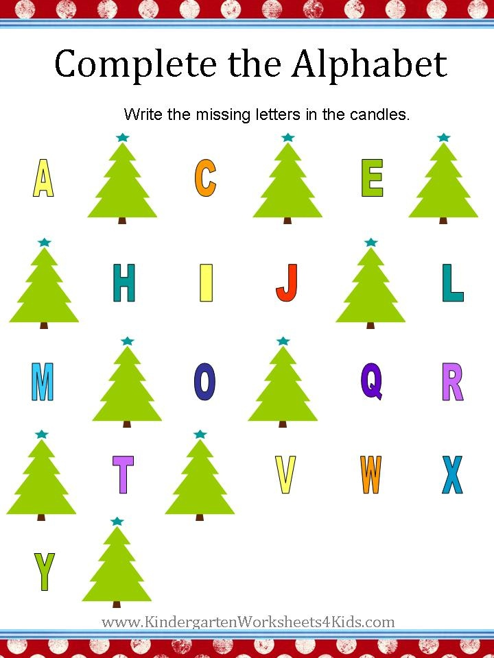 Christmas alphabet worksheets | Worksheets | Pinterest