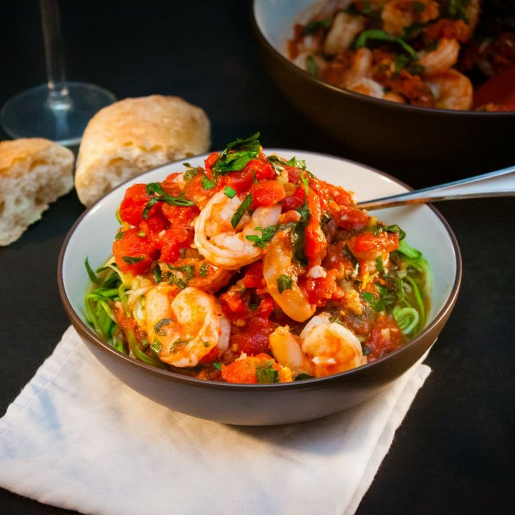 Garlic Shrimp With Basil, Tomatoes, And Pepper Flakes ...