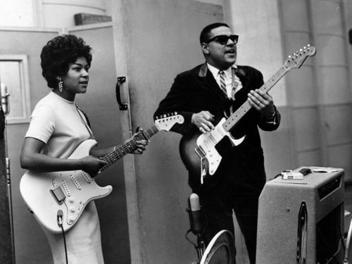 Sylvia robinson and the great mickey guitar baker