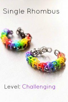 single rhombus rainbow loom  Rainbow Loom Bracelets