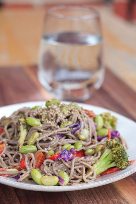 Soba Noodles with Edamame and a Spicy Miso Sauce | Recipe