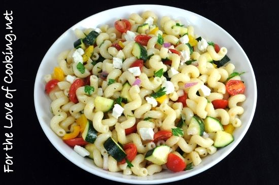 Pasta Salad Tomatoes, Zucchini, and Feta   recipies   Pinterest