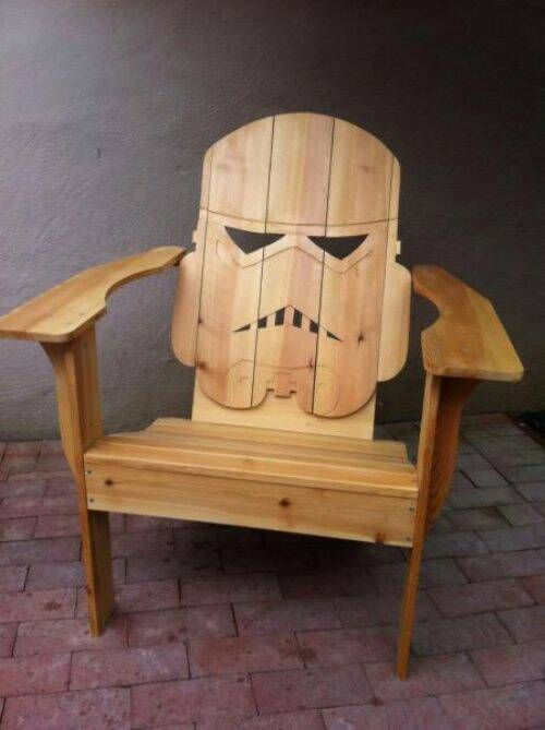 homemade patio stormtropper chair my love for geeky