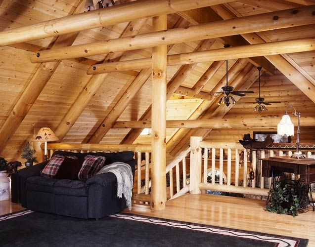Ideas For Loft Rooms In Log Cabins Cabin Fever Pinterest
