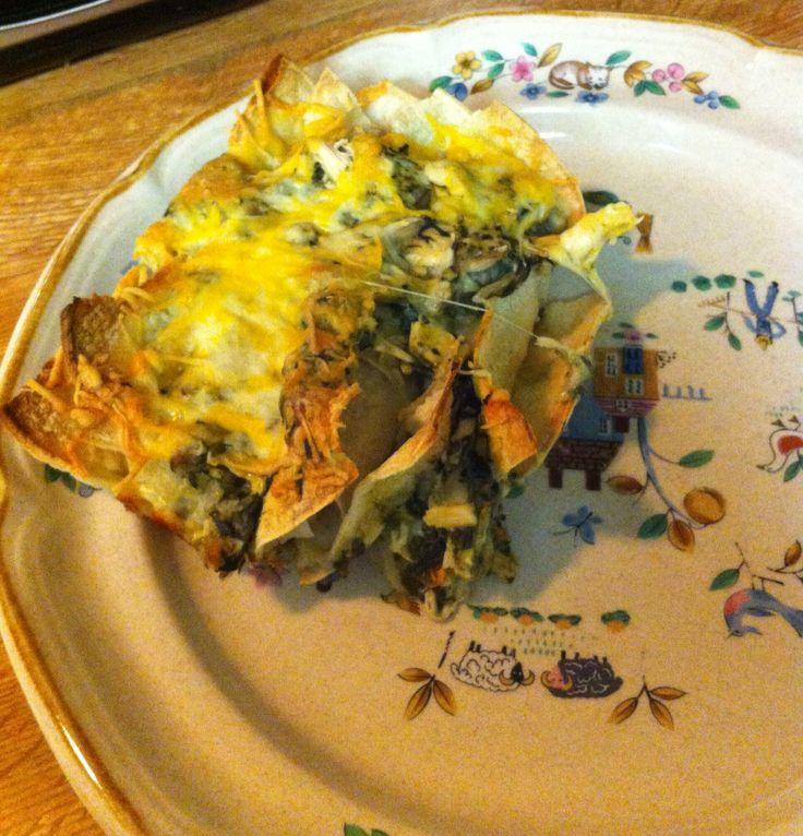 Chicken, Spinach and Mushroom Enchiladas | Recipe