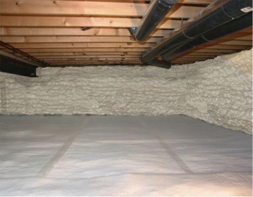 Insulating dirt floor crawl space basement pinterest Crawl space flooring
