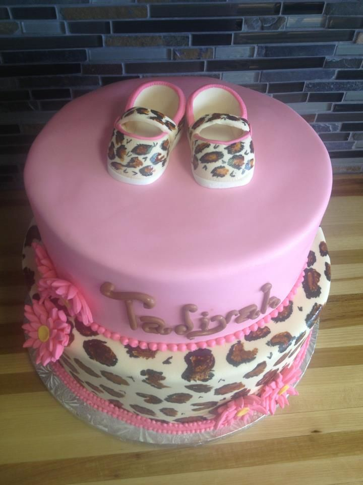 baby shower cakes baby shower cakes leopard