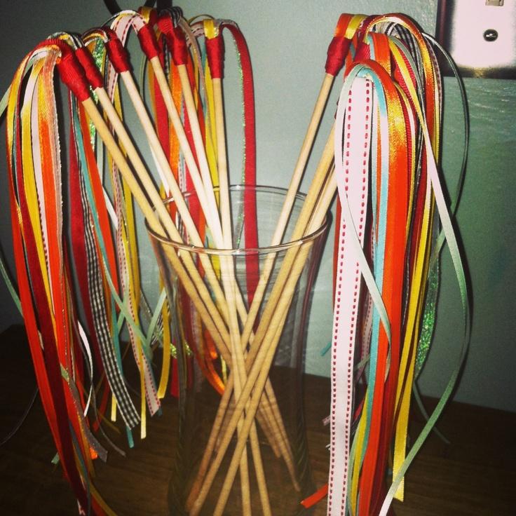 Diy ribbon wand cake ideas and designs for Ribbon wands