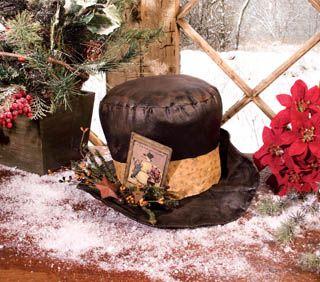 enchantedcottageshop.com   Primitive frosty hat.
