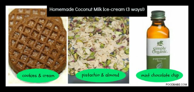 ... mint chocolate chip sweetener options coconut palm sugar or bananas