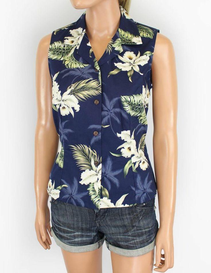Womens Sleeveless Hawaiian Blouses 4