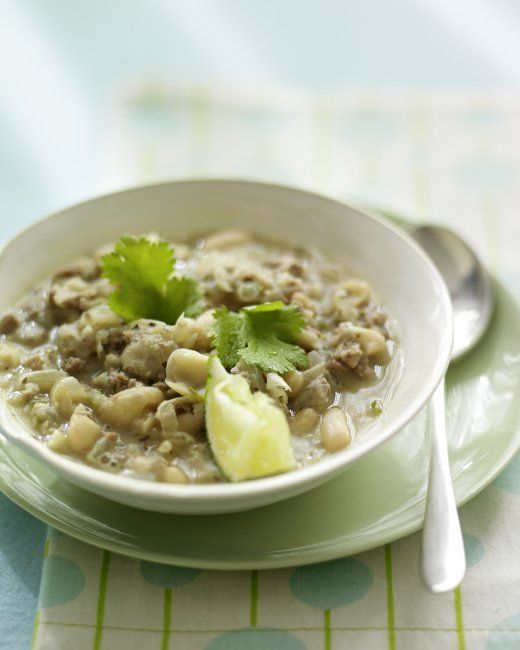 White Turkey Chili It takes only 30 minutes to make a steaming bowl of ...