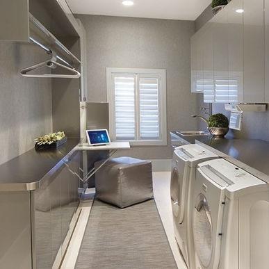 laundry room hanging rod for the home pinterest. Black Bedroom Furniture Sets. Home Design Ideas