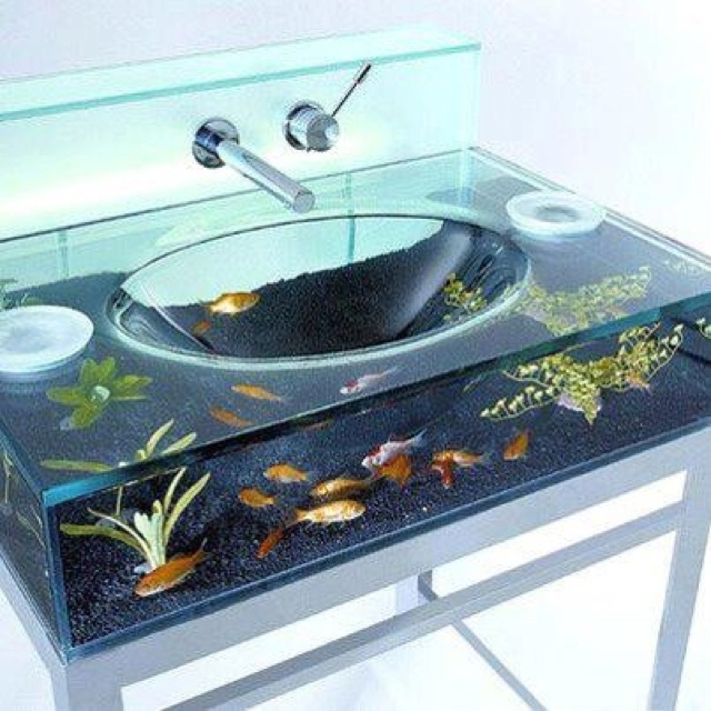 fish tank sink cool right mine pinterest