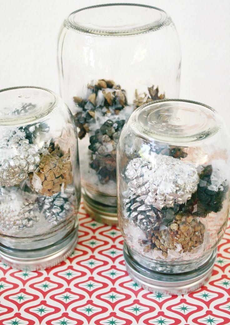 Diy snow globe quirky christmas pinterest for Easy homemade christmas snow globes