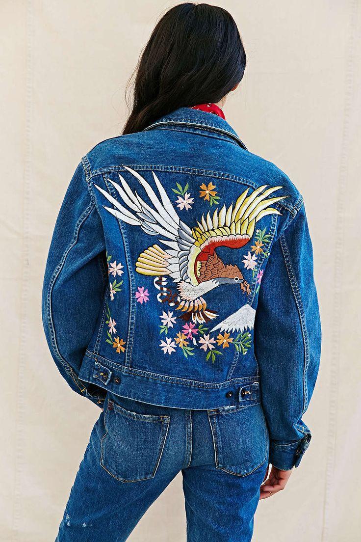 Вышивка на спине на куртке 663