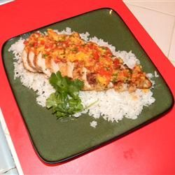 Coriander Chicken with Mango Salsa Allrecipes.com (A.L. - great flavor ...