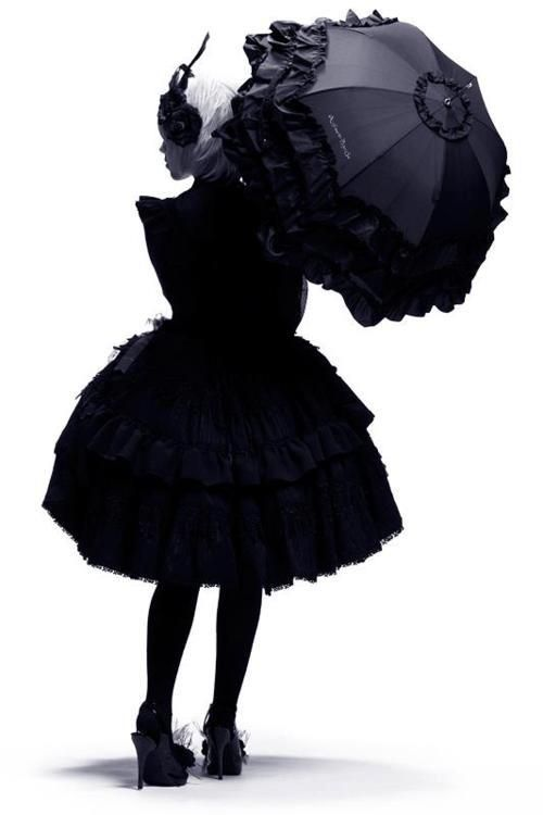 black on black & ruffles