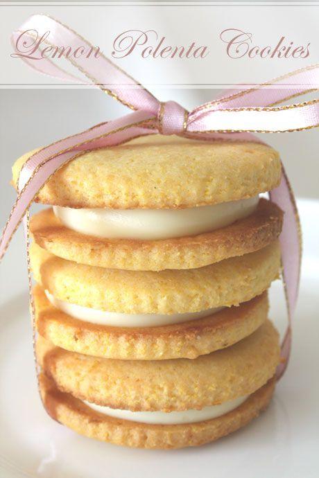 Lemon Polenta Sandwich Cookies | All Things Yummy and Citrus | Pinter ...