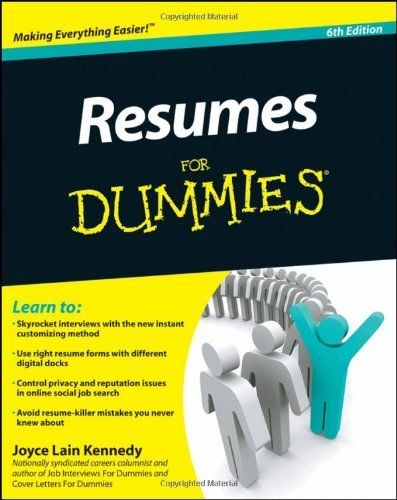 resumes for dummies by kennedy books worth reading pinterest