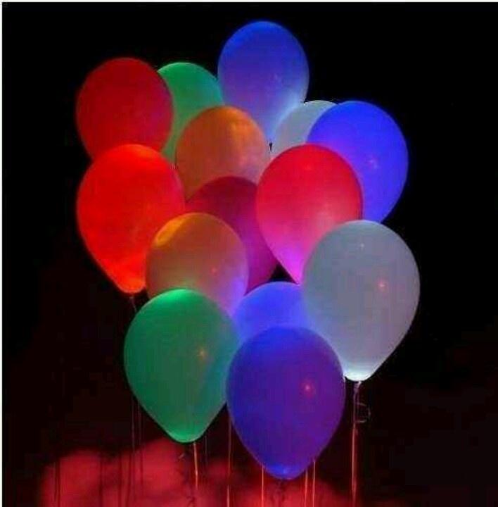 Glow sticks in balloons quinceanera ideas pinterest