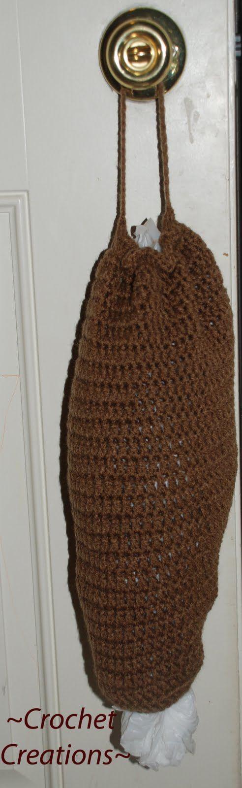 Crochet Pattern For Grocery Bag Dispenser : Crochet Bag Holder Crochet Pinterest
