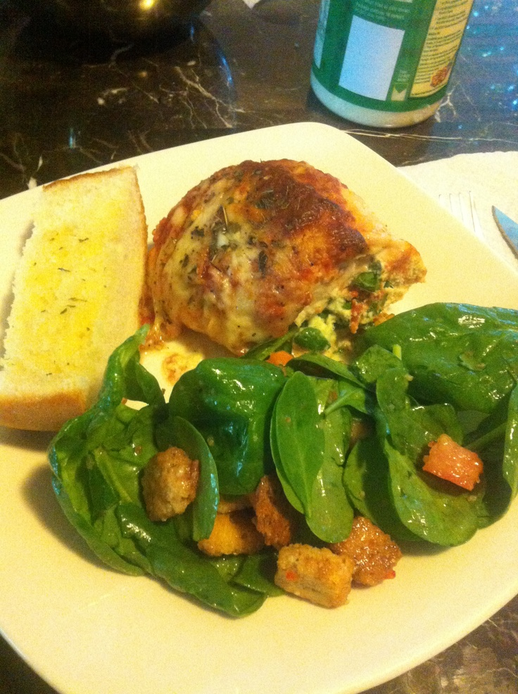 Baked Chicken Parmesan With Ricotta And Spinach Recipe ...