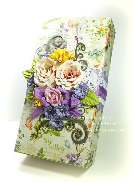 gift box by Linda Duke - G45 Secret Garden & Spellbinders flowers