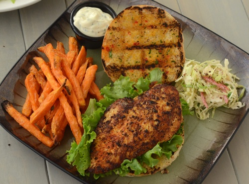 Blackened Chicken Sandwich with Cajun Slaw 13040216 ~ Awesome sandwich ...