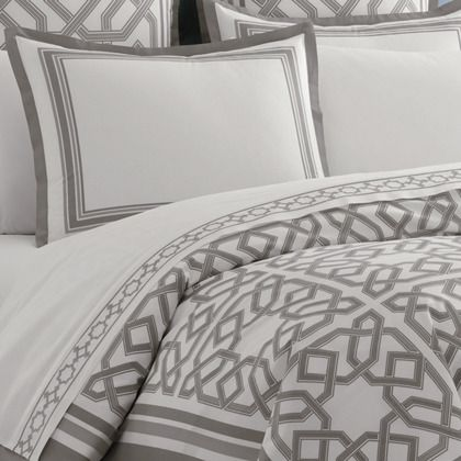 grey parish duvet cover  JONATHAN ADLER