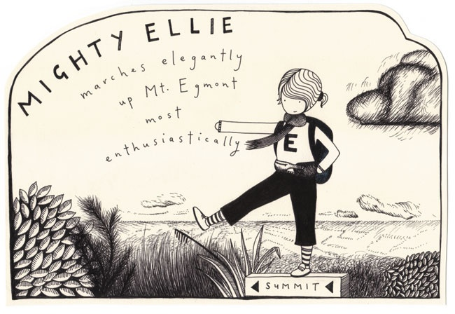 ELLIE, Lotte Kellaway, 2006, Ink on paper www.loveyourwork.org
