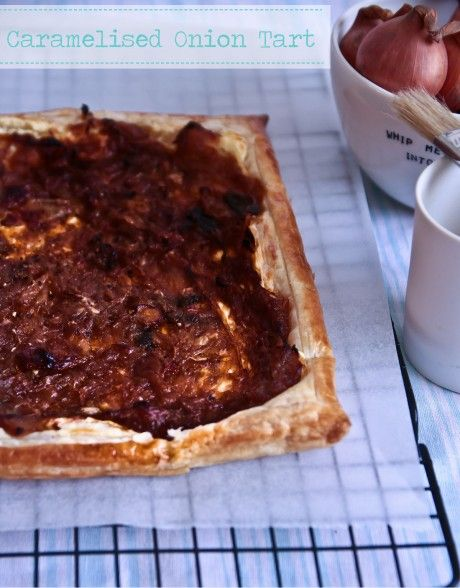 caramelized onion and cream cheese tart   Purple Pie Man & Friends ...