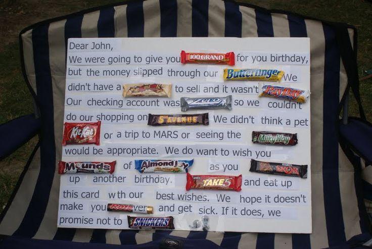 Birthday Candy bar card