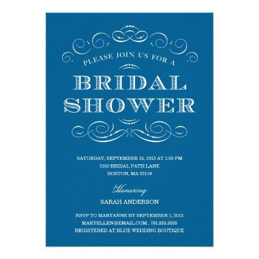 INVITATION CLASSY SHOWER | BRIDAL SHOWER INVITATION we are given ...