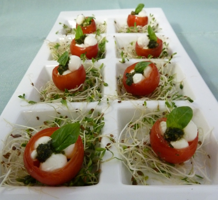 Mini Caprese Salad | Some Things Fishy Catering | Pinterest