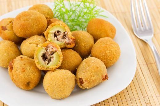 Fried Stuffed Olives | Finger foods | Pinterest