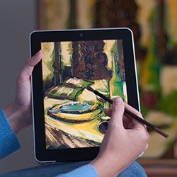 Brush for iPad that lets you 'paint'  - guess what I'm asking for on Mother's Day? My husband can't wait to get this.